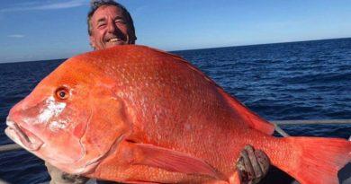 Чоловік зловив рибу вагою 22 кг