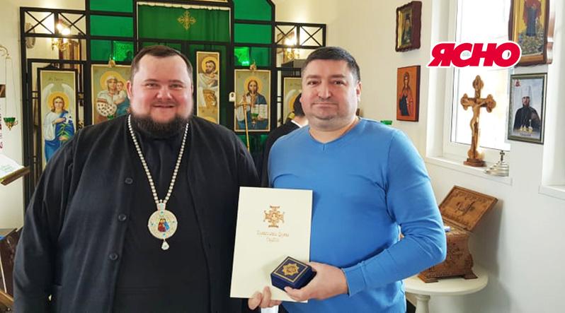 Редактор газети ЯСНО нагороджений високою церковною нагородою Православної Церкви України – орденом Архистратига Михаїла