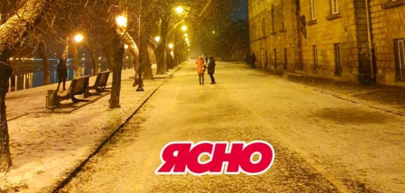 Мережу вразив вчорашній снігопад в Ужгороді. ВІДЕО