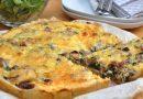 Неймовірно смачний домашній заливний пиріг з грибами